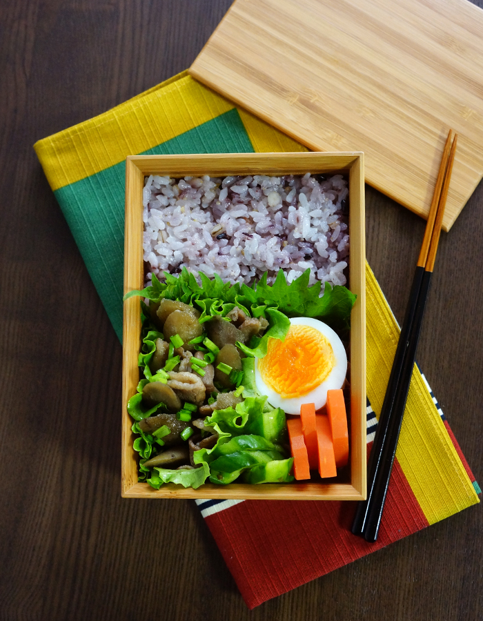 Pork and burdock stir-fry bento/豚肉ゴボウ弁当
