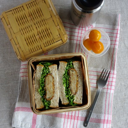 Korokke (Japanese-style croquette) sandwich lunchbox・コロッケサンドウィッチ弁当