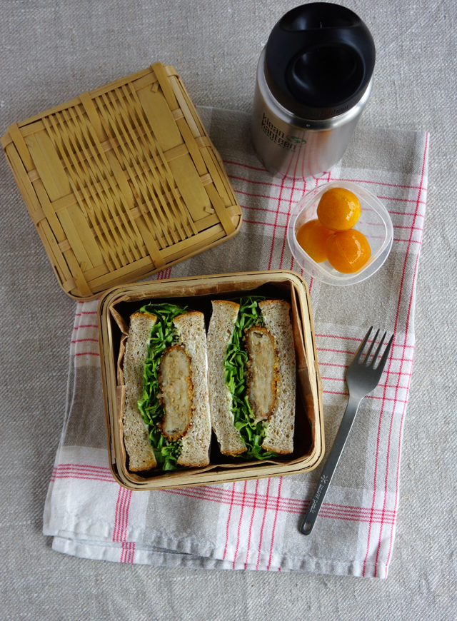 Korokke (Japanese-style croquet) sandwich lunchbox・コロッケサンドウィッチ弁当