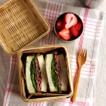 Pastrami and lettuce sandwich with gorgonzola lunchbox・パストラミサンドウィッチ弁当