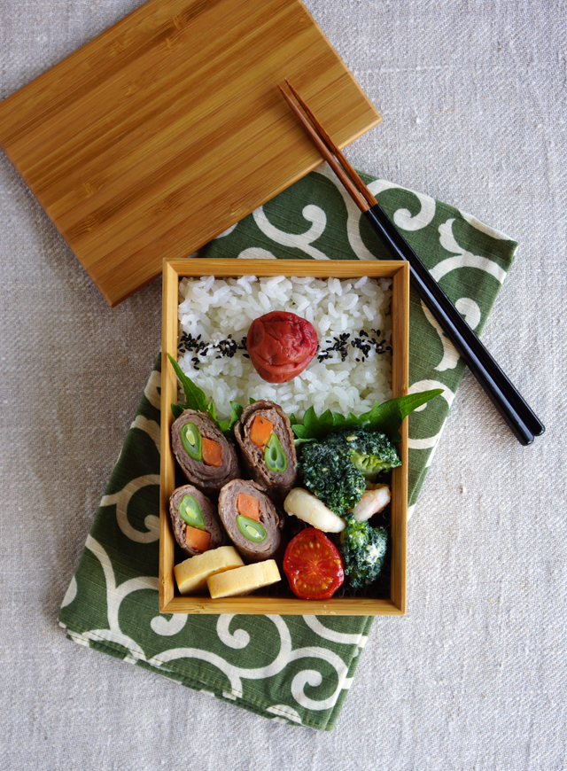 Beef and veggies roll-ups bento・肉巻き弁当