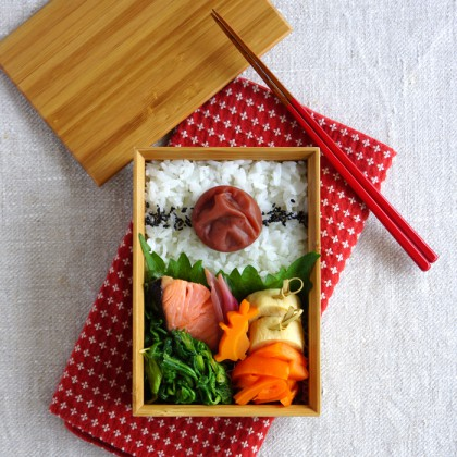 Grilled salmon bento・焼き塩鮭弁当