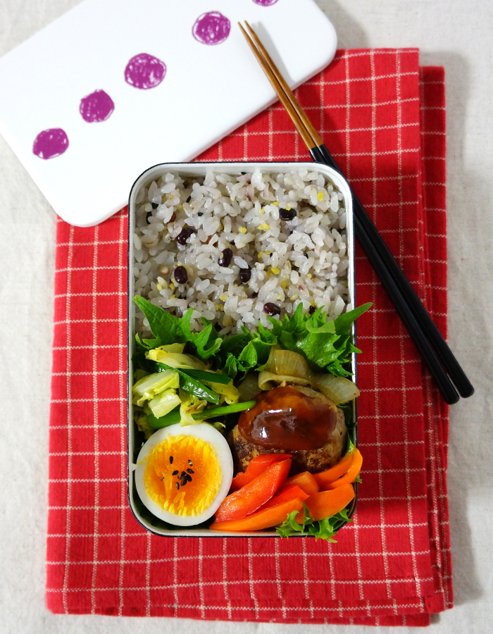 Hamburger steak bento/ハンバーグ弁当