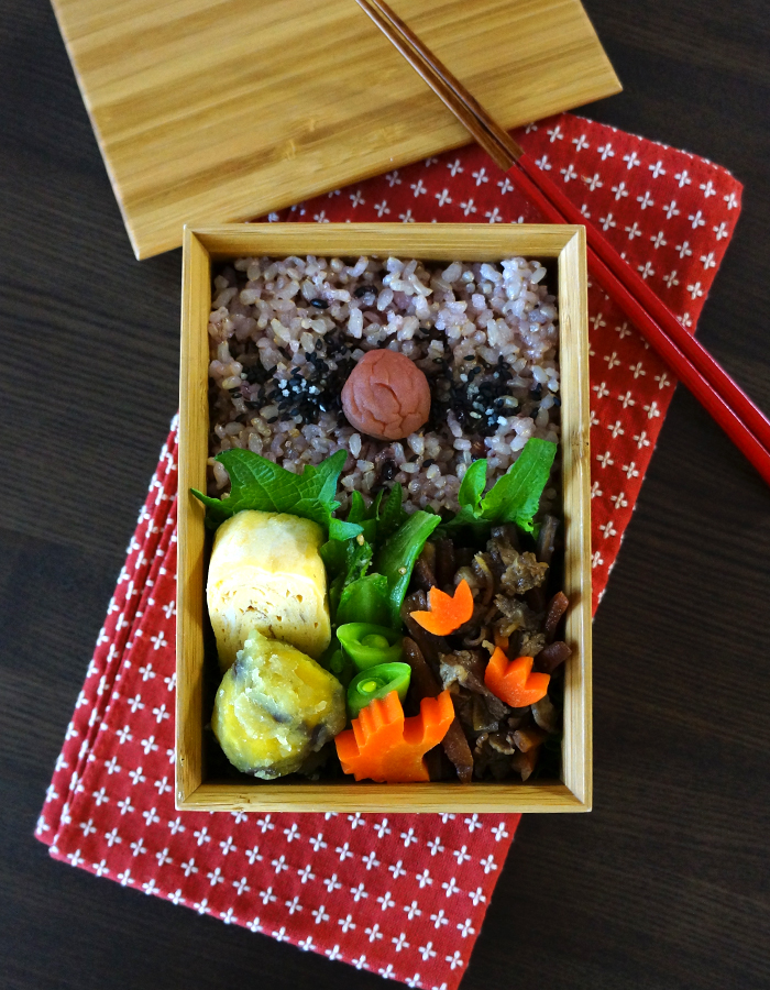 Kimpira burdock and beef bento/牛肉入りきんぴら弁当