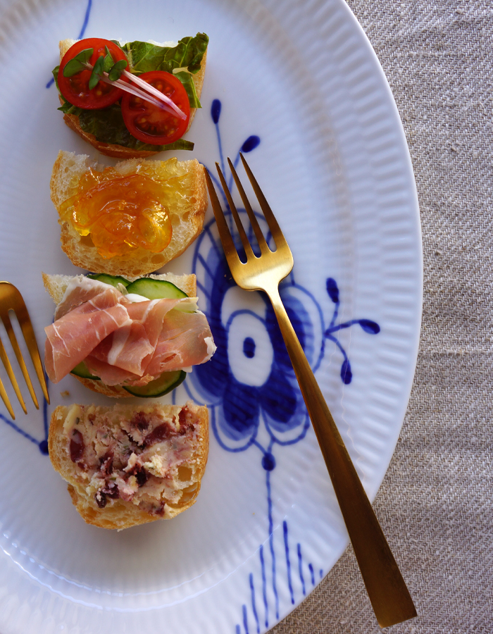 bit-sized, open-faced sandwiches