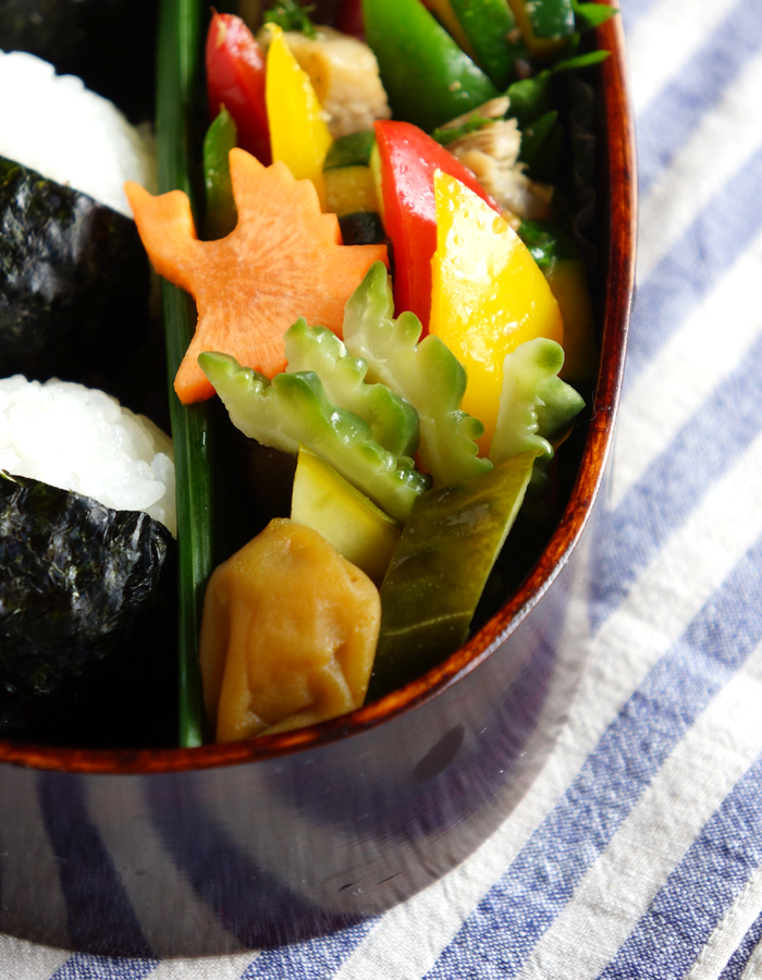 nukazuke pickled bitter melon and cucumber