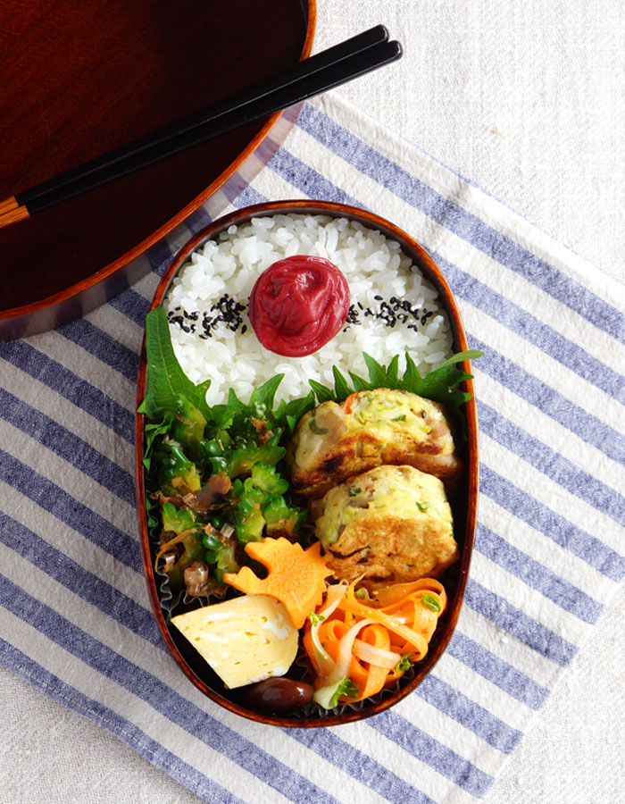 Vegetable and cheese patties bento/野菜バーグ弁当