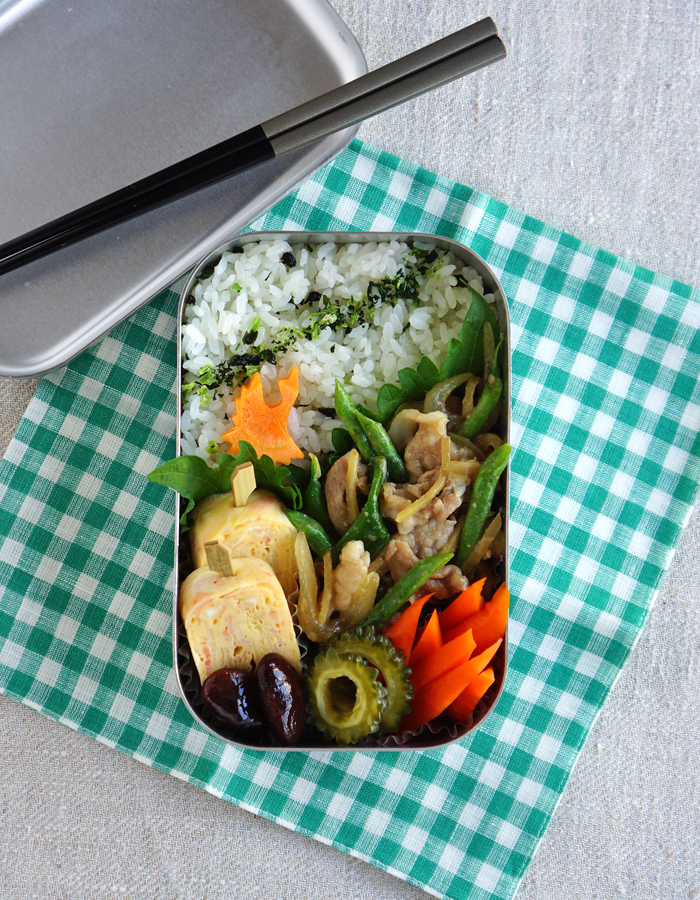 Thai ginger pork, moo pad king bento/タイの生姜焼き弁当