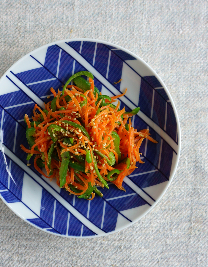 Carrot and bell pepper salad