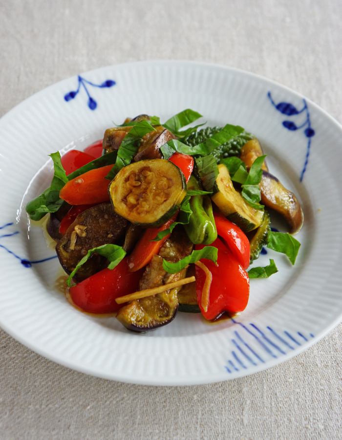 Balsamic marinated vegetables