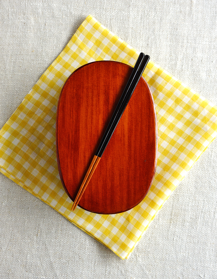 Magewappa bento box, fabric and chopsticks