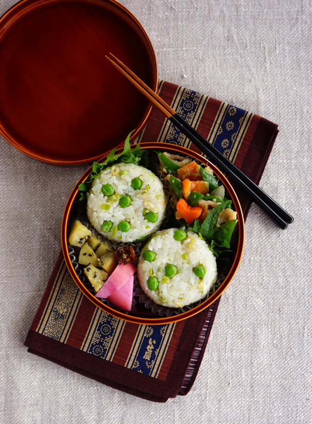 Green pea rice balls