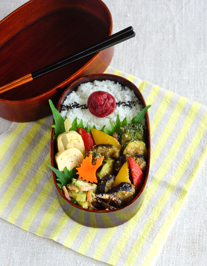 Miso stir-fried veggies bento/野菜の味噌炒め弁当