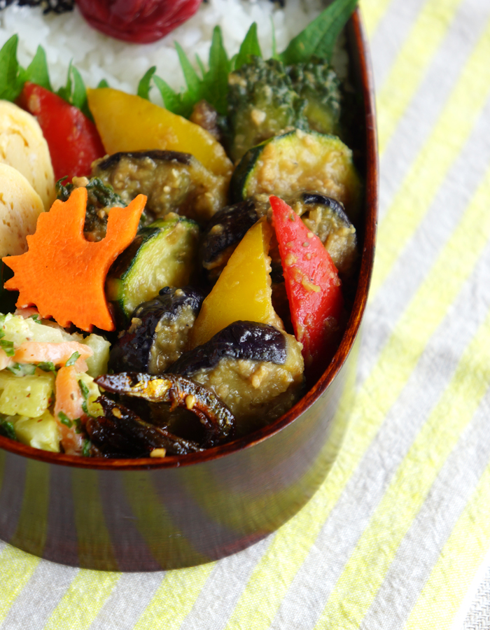 Miso stir-fried summer veggies