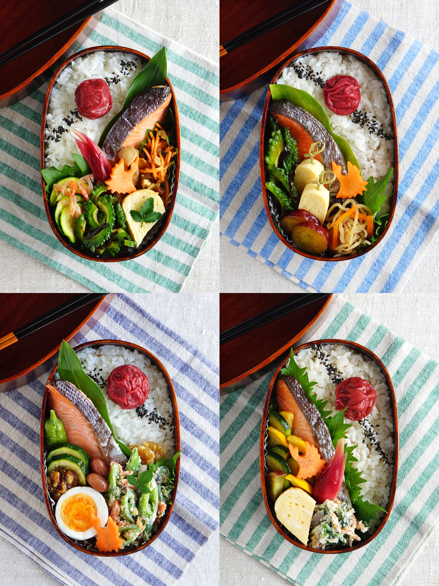 My favorite Grilled salted salmon bento
