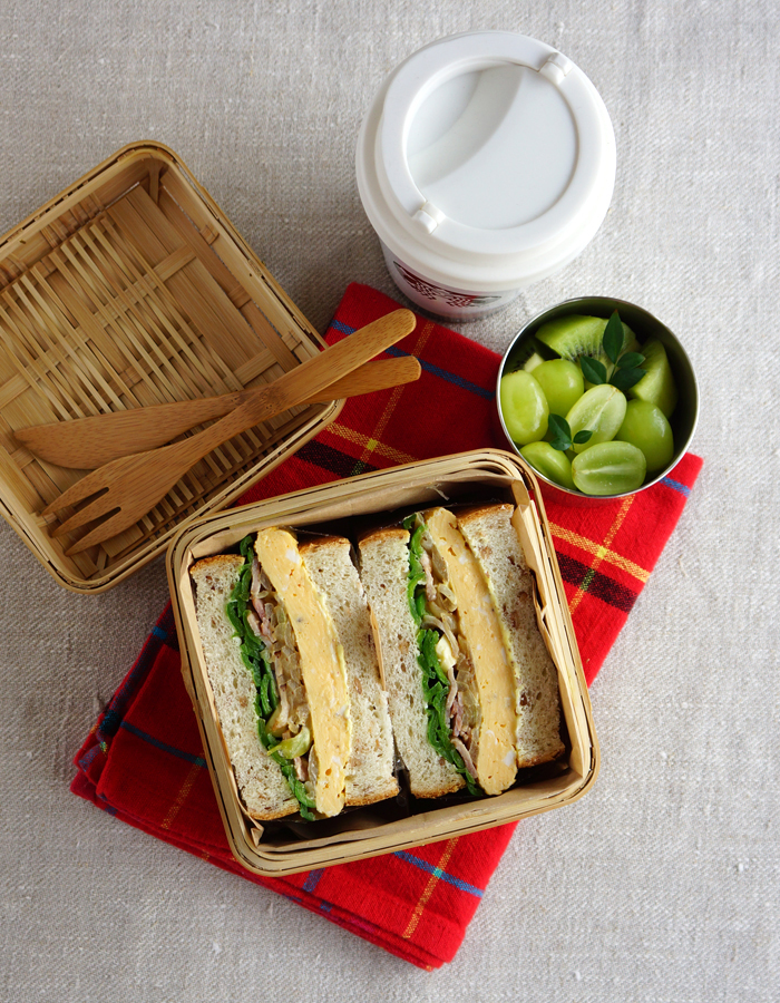 Pepper and egg sandwich bento/ペッパー&エッグサンドウィッチ弁当