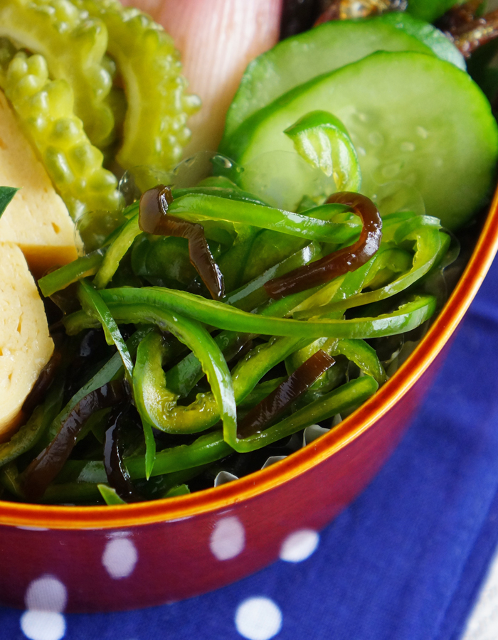 Bell pepper salad with sio-kombu