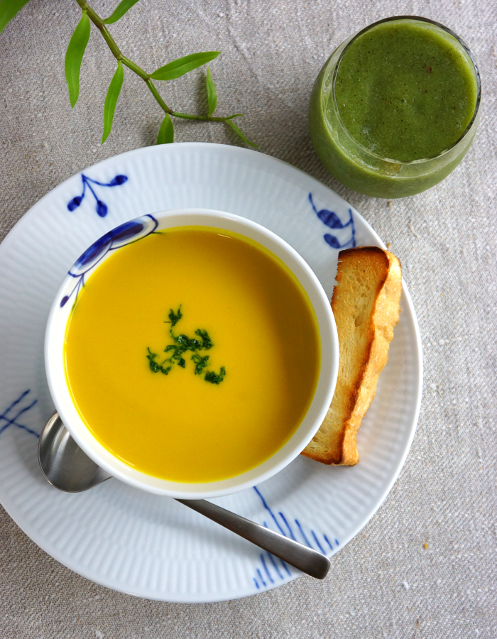 hearty Kabocha squash soup