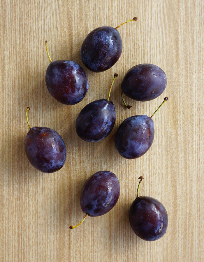 Fully ripened prunes