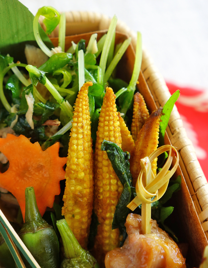 Baby corn stir-fry, Indian style
