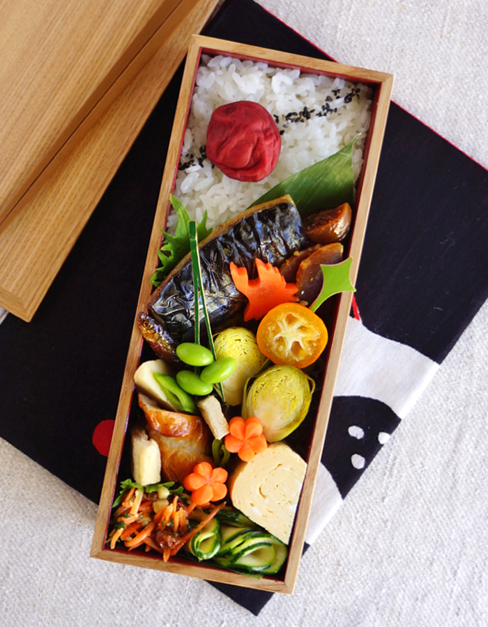 Grilled salted mackerel bento/塩鯖弁当