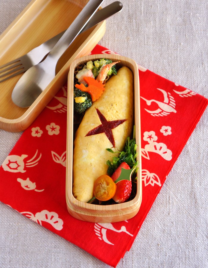 Fried rice omelette bento/オムライス弁当