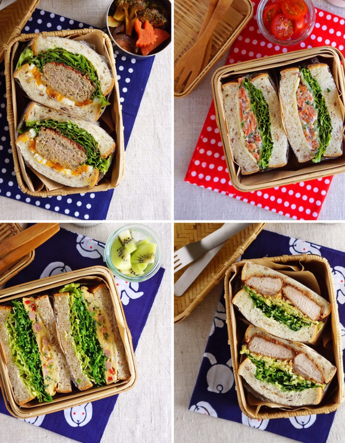 My favorite sandwich bentos!