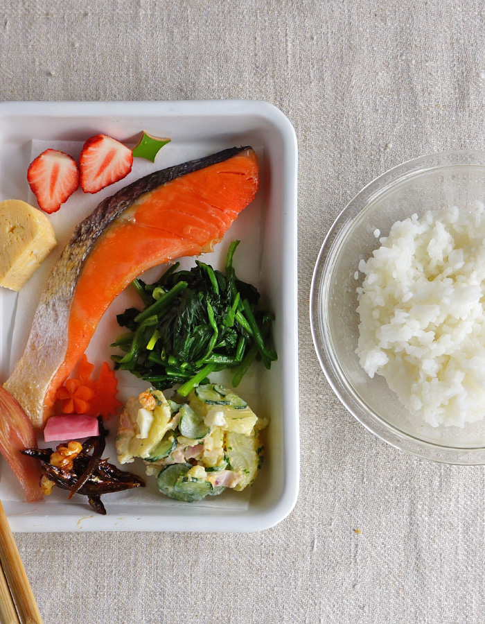 Prep for Grilled salted salmon bento☆