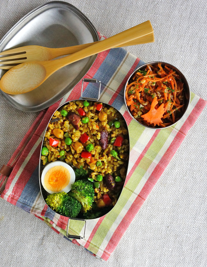 Curried vegetables pilaf rice bento/カレーピラフ弁当