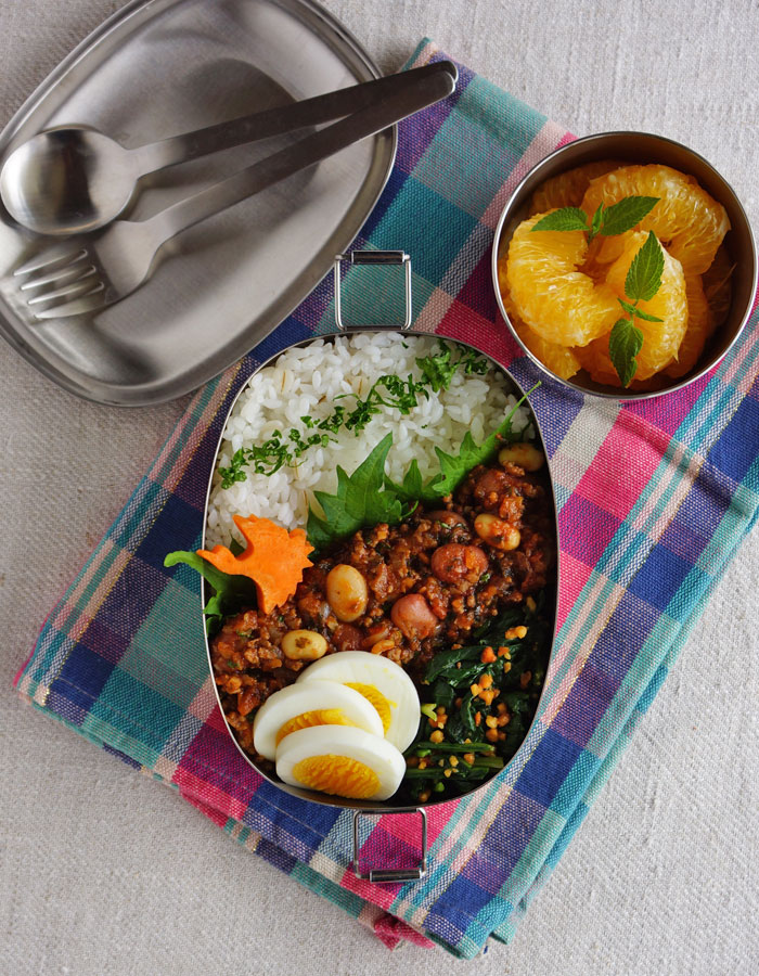 Chilli beans with rice bento/チリビーンズ弁当