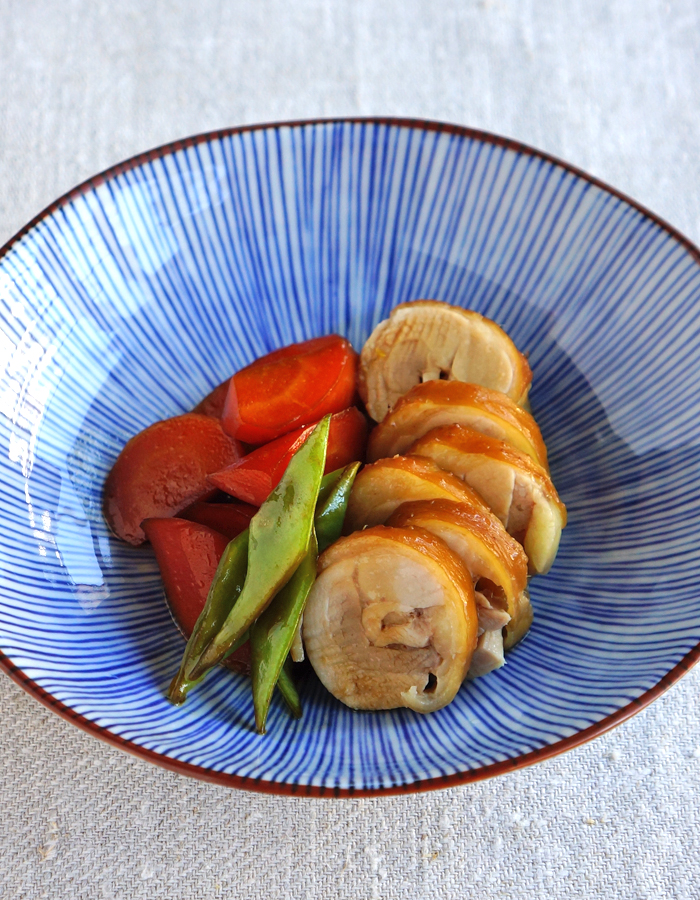 Soy simmered chicken